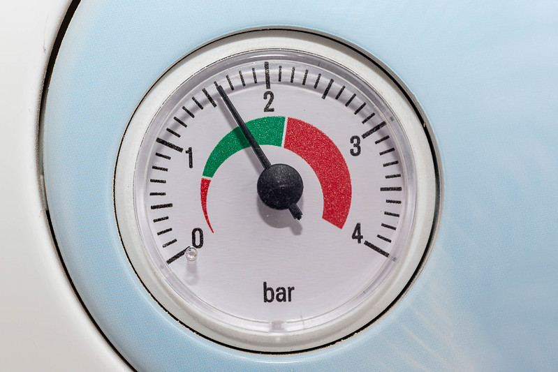 The scale of pressure on domestic gas boiler